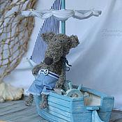 Куклы и игрушки ручной работы. Ярмарка Мастеров - ручная работа Преданный Морю... Парусник и его Капитан. Handmade.
