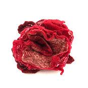 Брошь-булавка ручной работы. Ярмарка Мастеров - ручная работа Брошь-булавка: роза (валяние). Handmade.