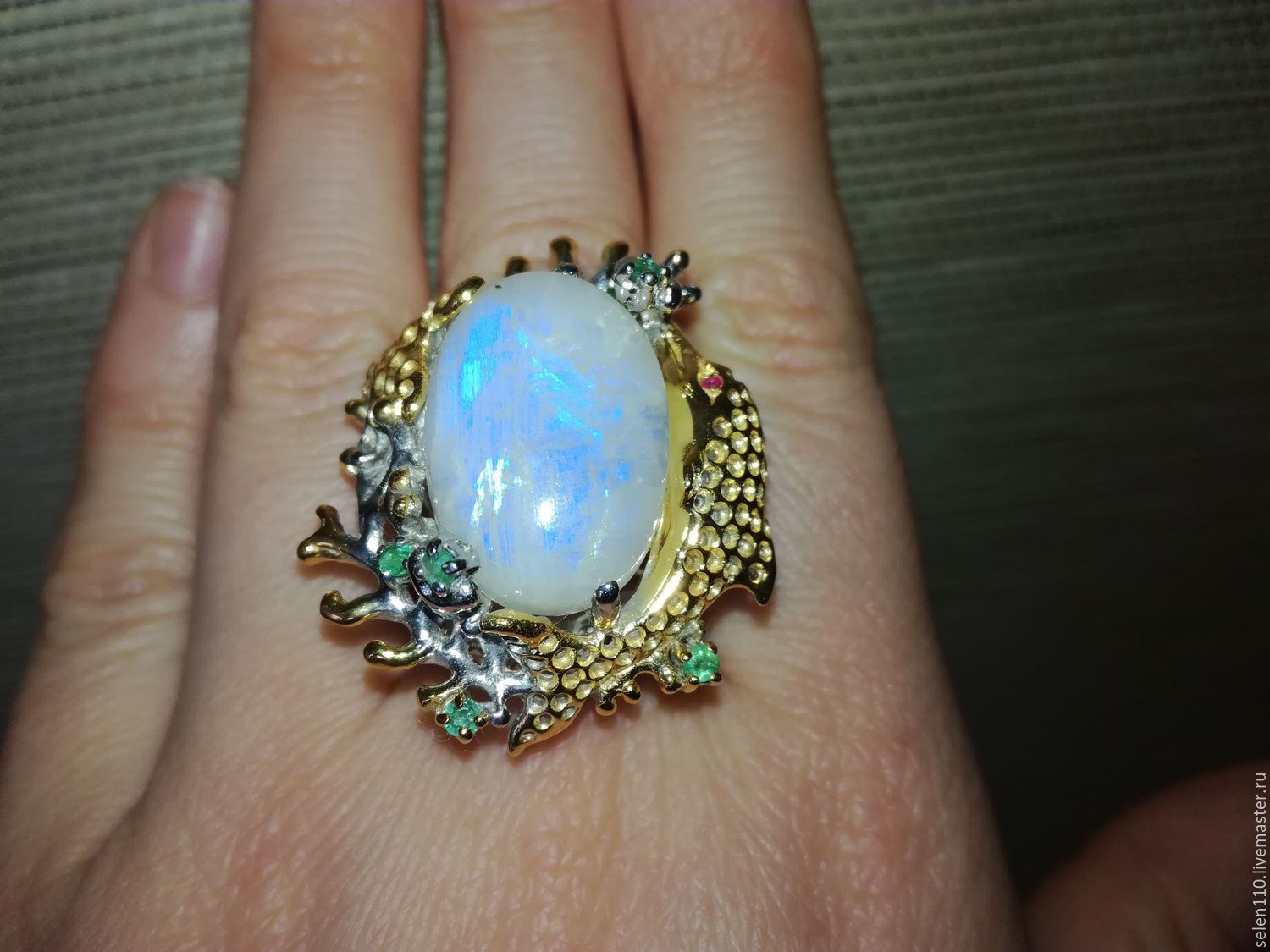 Ring 'moon Riviera' with adulyar moonstone), Rings, Voronezh,  Фото №1