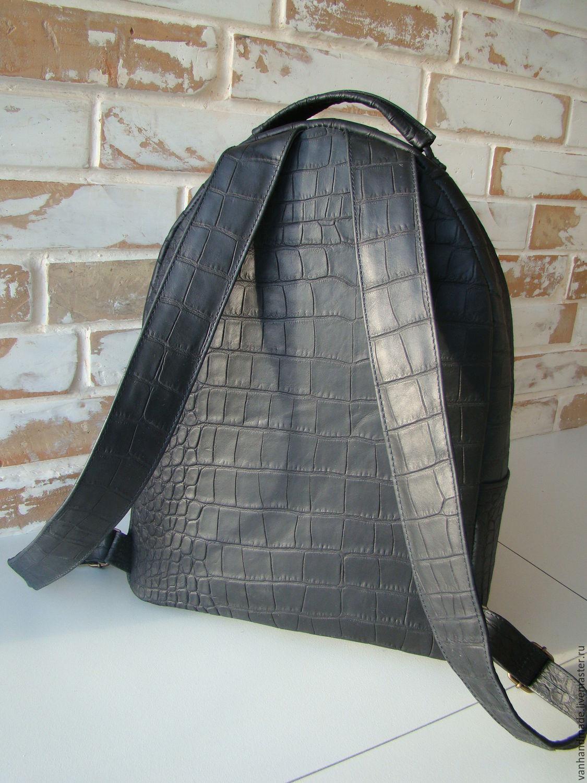Шикарный кожаный рюкзак