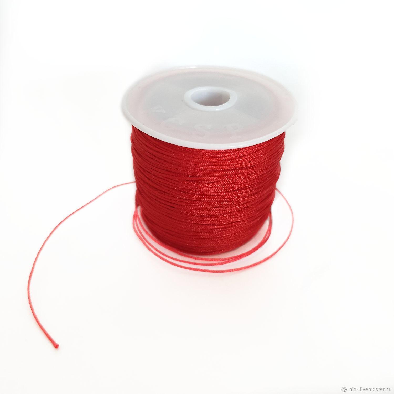 Шнур для плетения красный 0.8 мм, Шнуры, Москва,  Фото №1