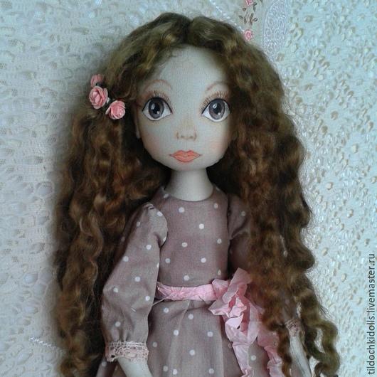 Коллекционные куклы ручной работы. Ярмарка Мастеров - ручная работа. Купить Текстильная кукла Мелисса. Handmade. Бледно-розовый