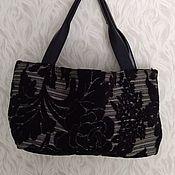 Классическая сумка ручной работы. Ярмарка Мастеров - ручная работа Классическая сумка: Черная сумка. Handmade.