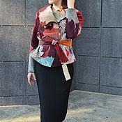 Одежда ручной работы. Ярмарка Мастеров - ручная работа жакет теплый стеганый расписанный вручную Осень. Handmade.