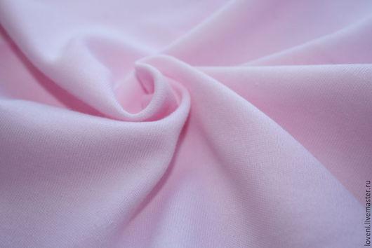 Шитье ручной работы. Ярмарка Мастеров - ручная работа. Купить Интерлок розовый. Handmade. Бледно-розовый, трикотаж, ткань, пенье