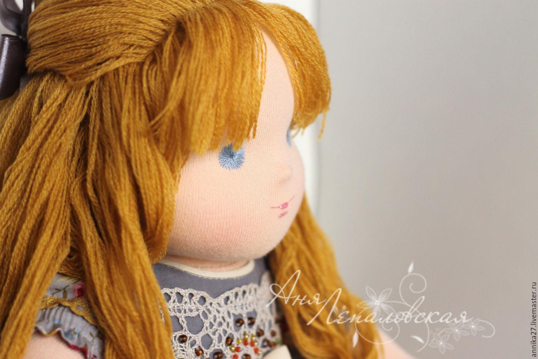Мастер класс по волосам для вальдорфской куклы