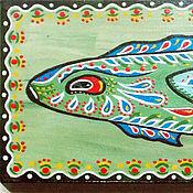 Картина на доске. Рыба китайская