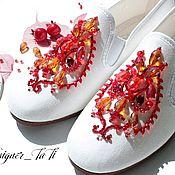 """Обувь ручной работы. Ярмарка Мастеров - ручная работа (-10%)Дизайнерские испанские кеды """"Летняя краса"""". Handmade."""