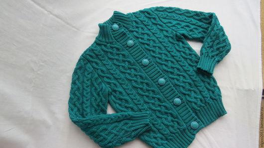 Одежда для девочек, ручной работы. Ярмарка Мастеров - ручная работа. Купить Изумрудная кофточка для девочки. Handmade. Тёмно-зелёный