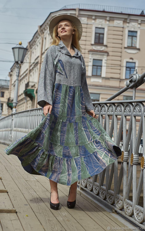 Свободное платье Июньский дождь, Платья, Санкт-Петербург,  Фото №1