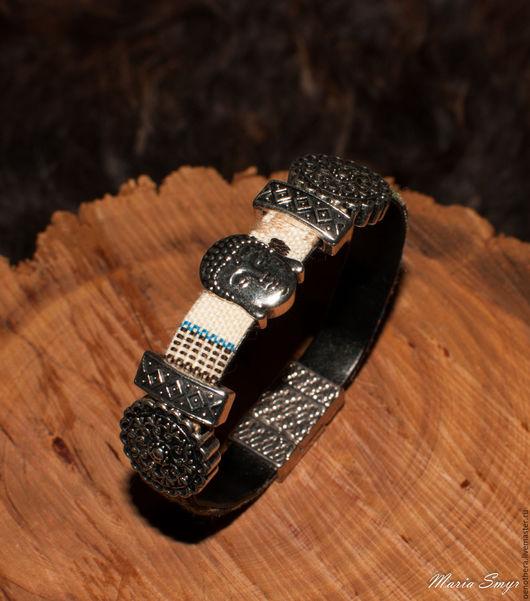 """Браслеты ручной работы. Ярмарка Мастеров - ручная работа. Купить Бохо-браслет """"Будда"""". Handmade. Комбинированный, бохо-стиль, ткань"""