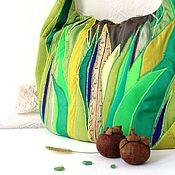 Сумки и аксессуары ручной работы. Ярмарка Мастеров - ручная работа Сумка текстильная Оттенки зелёного. Handmade.