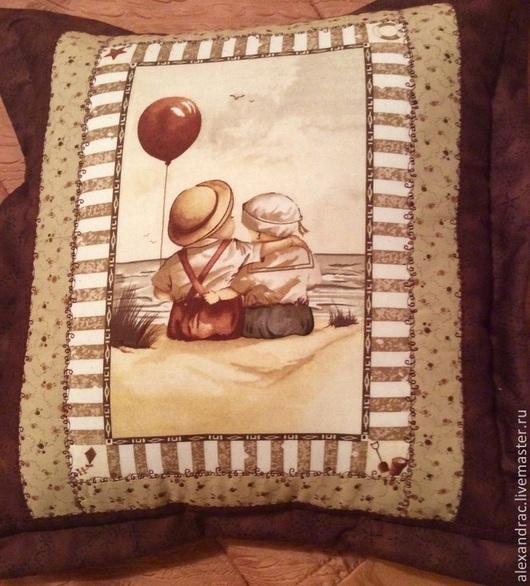 """Текстиль, ковры ручной работы. Ярмарка Мастеров - ручная работа. Купить Подушки """"Куда уходит детство..."""". Handmade. Подушка"""