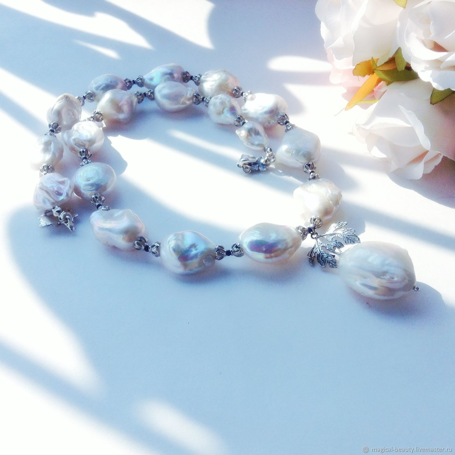 Pearl necklace 'the Northern lights', Necklace, Moscow,  Фото №1