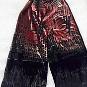Винтаж handmade. Livemaster - original item Scarf of pan velvet,silk,vintage Germany. Handmade.