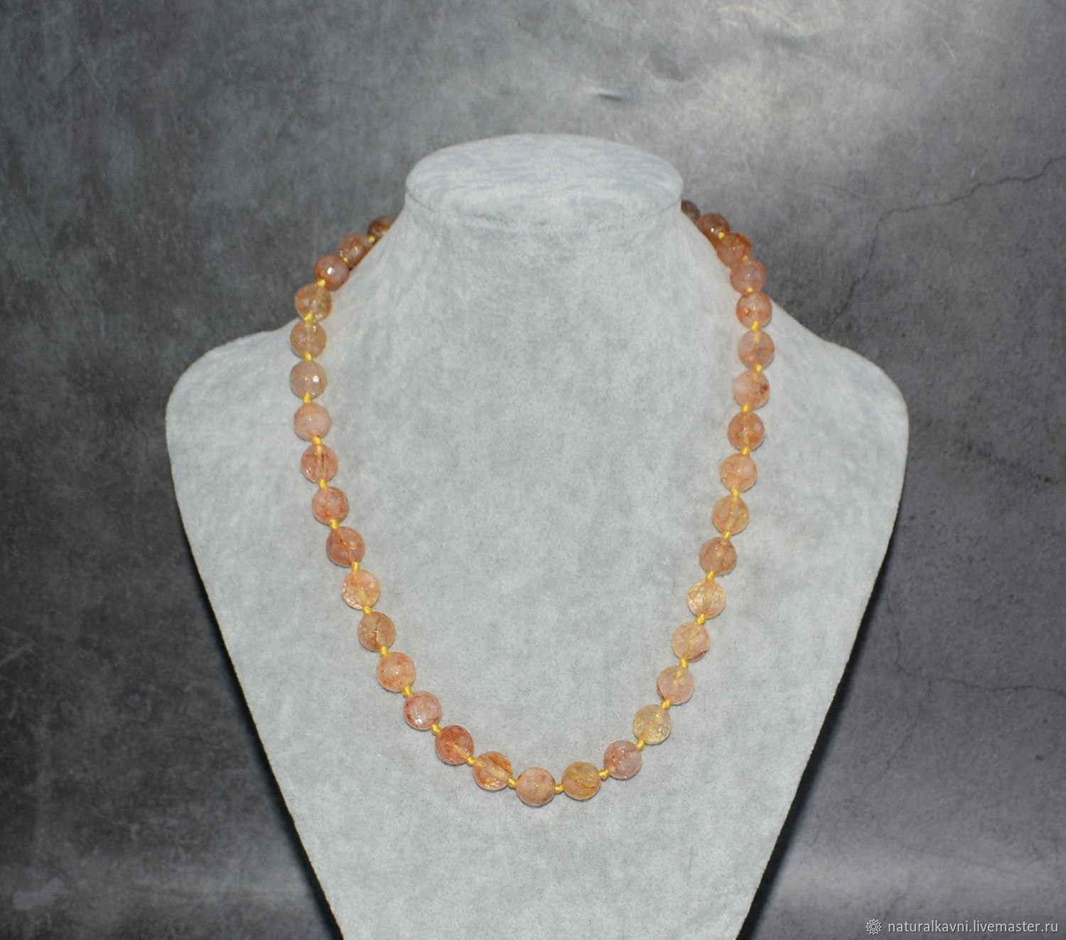 Natural citrine Beads made of natural stones, Necklace, Moscow,  Фото №1
