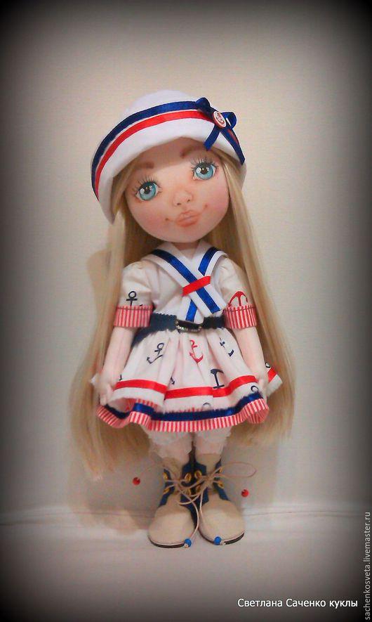 Коллекционные куклы ручной работы. Ярмарка Мастеров - ручная работа. Купить Морячка Светлана. Handmade. Белый, интерьерная кукла, холлофайбер