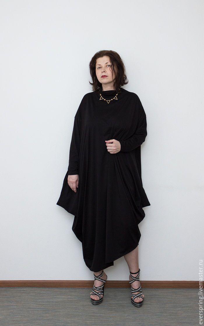 Купить Черное Платье Большого Размера