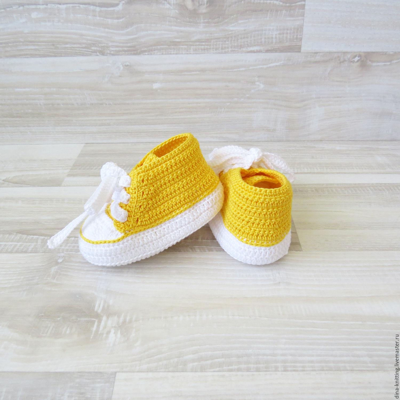 botines zapatos de ganchillo botines kediki para las niñas amarillo ...
