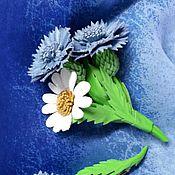 """Украшения ручной работы. Ярмарка Мастеров - ручная работа Брошь """"Солнце в небесах"""" из натуральной кожи.. Handmade."""
