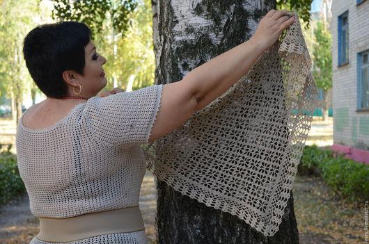 Шали, палантины ручной работы. Ярмарка Мастеров - ручная работа. Купить шаль. Handmade. Серый, ручная работа, шаль, женщине