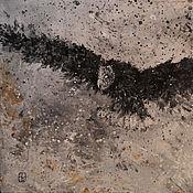 """Картины и панно ручной работы. Ярмарка Мастеров - ручная работа Абстрактная картина """"Night watcher"""". Handmade."""