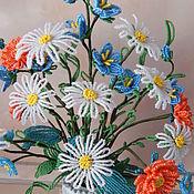 Букет полевых цветов из бисера Летняя симфония