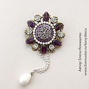 Украшения handmade. Livemaster - original item A brooch with pendant pearl Spring is coming. Handmade.