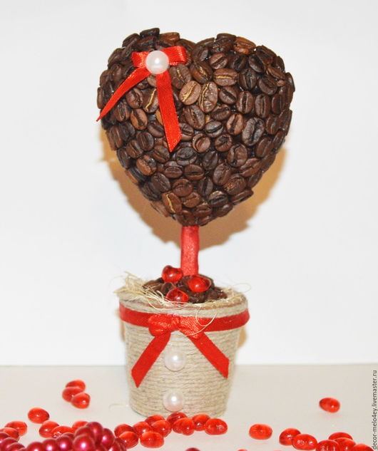 Деревья ручной работы. Ярмарка Мастеров - ручная работа. Купить Ториарий Кофейное сердце. Handmade. Комбинированный, коричневый, 14 февраля