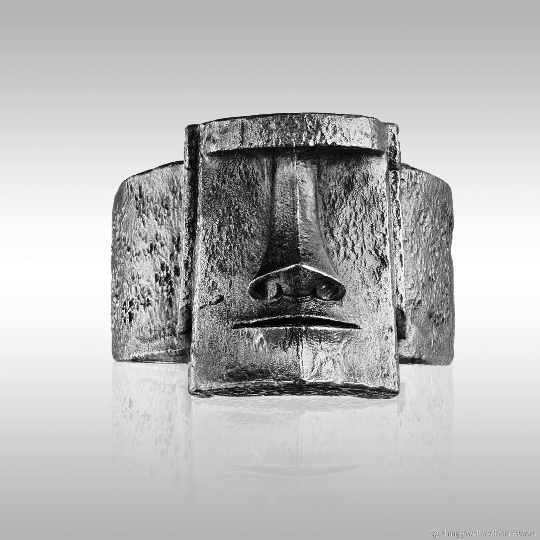 Перстень - кольцо статуя острова Пасхи МОАИ, Кольца, Москва,  Фото №1