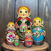 Русский стиль handmade. Livemaster - original item Matreshka 5 places. Handmade.