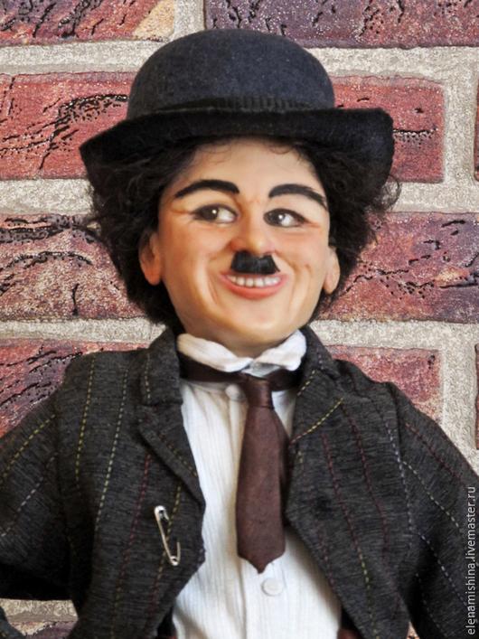 Коллекционные куклы ручной работы. Ярмарка Мастеров - ручная работа. Купить Портретная кукла Чарли Чаплин. Handmade. Чарли Чаплин