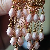 Украшения handmade. Livemaster - original item Earrings with glass drops, Floral Rhapsody. Handmade.