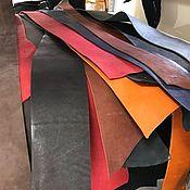 Материалы для творчества handmade. Livemaster - original item Skin:Pieces of the SADDLE. 2,4-3,5 mm. Genuine leather. Handmade.