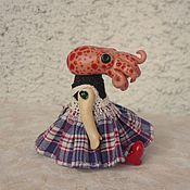 Куклы и игрушки ручной работы. Ярмарка Мастеров - ручная работа девочка-осьминог, octopus girl, сувенирная фигурка из полимерной глины. Handmade.