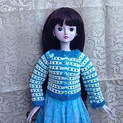 """Одежда для кукол ручной работы. Ярмарка Мастеров - ручная работа Кофточка """"Бирюзовая фантазия"""" (единственный экземпляр). Handmade."""