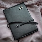 Канцелярские товары handmade. Livemaster - original item Needlewoman`s diary, leather notebook with silver brooch. Handmade.