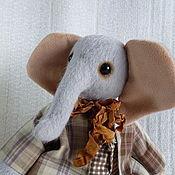 Куклы и игрушки ручной работы. Ярмарка Мастеров - ручная работа Слоник Мотя. Handmade.