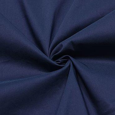 Материалы для творчества ручной работы. Ярмарка Мастеров - ручная работа 46801 ткань плательная тонкая синяя. Handmade.