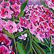 Bright Phlox oil painting, the bright blossoms of Phlox. Pictures. positive picture Helena Gold. My Livemaster.Фото №5
