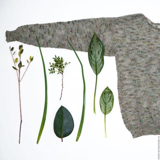 Кофты и свитера ручной работы. Ярмарка Мастеров - ручная работа. Купить Джемпер Botanico. Handmade. Зеленый, Летняя кофточка, летнее
