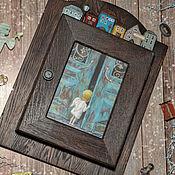 Для дома и интерьера handmade. Livemaster - original item Oak housekeeper Curious angel. The housekeeper decoupage. Handmade.