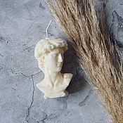 Сувениры и подарки handmade. Livemaster - original item Soy Wax Candle David`s Head. Handmade.