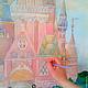 Декор поверхностей ручной работы. Замок Спящей красавицы. Вера Росса. Интернет-магазин Ярмарка Мастеров. Роспись стен