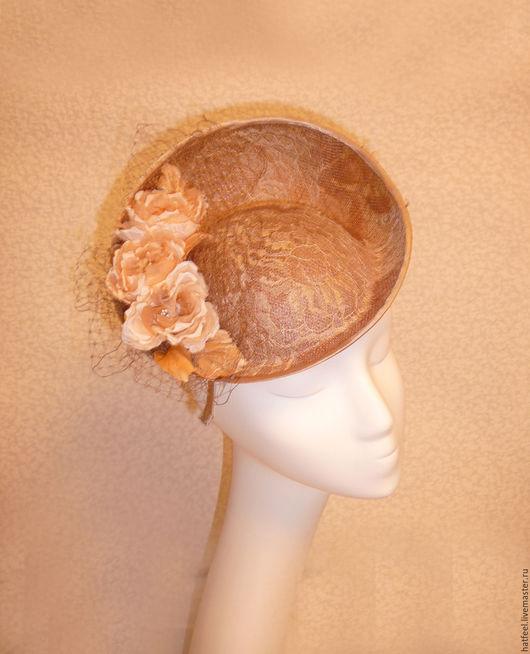 Шляпы ручной работы. Ярмарка Мастеров - ручная работа. Купить Летняя шляпка. Handmade. Бежевый, летняя шляпка, французское кружево