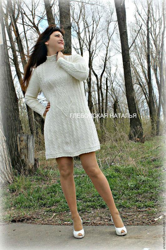 """Кофты и свитера ручной работы. Ярмарка Мастеров - ручная работа. Купить Туника""""Роскошь белого цвета"""".. Handmade. Белый, теплая одежда"""
