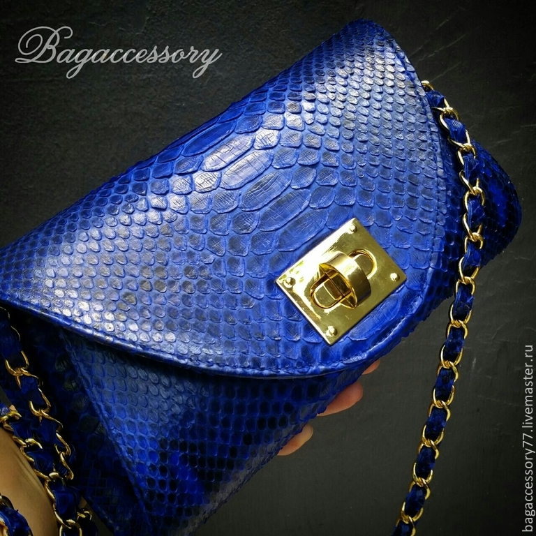 Handbag made of genuine Python leather, Classic Bag, Moscow,  Фото №1