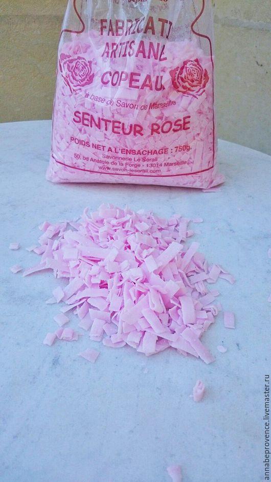 Другие виды рукоделия ручной работы. Ярмарка Мастеров - ручная работа. Купить Розовая марсельская мыльная стружка. Handmade. Розовый