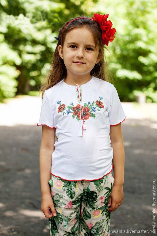 """Девичья футболка с вышивкой """"9210"""", Одежда для девочек, Львов, Фото №1"""