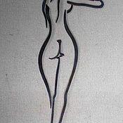 Картины ручной работы. Ярмарка Мастеров - ручная работа Картины: Силует девушки 3. Handmade.